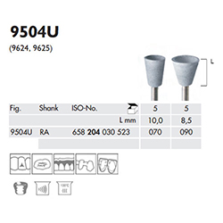 UNIVERSAL, CUP, WHITE POLISHER 9504U-070-RA-WH
