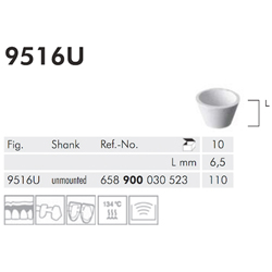 UNIVERSAL, CUP, WHITE POLISHER 9516U-110-UNM-WH