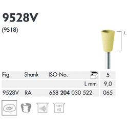 POLISHER, YELLOW, CUP, MEDIUM 9528V-065-RA-Y