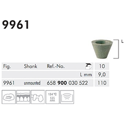 UNIVERSAL, CUP, GREEN, POLISHE 9961-110-UNM-GRN