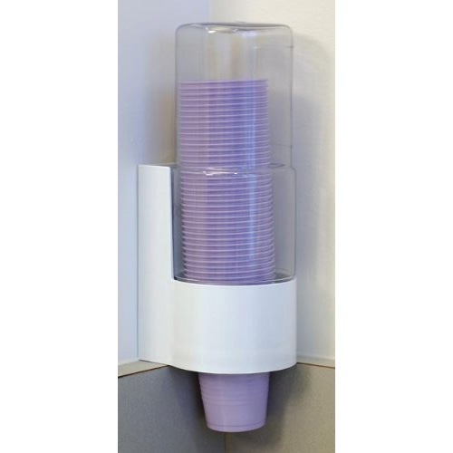 CUP DISPENSER WHITE PCC